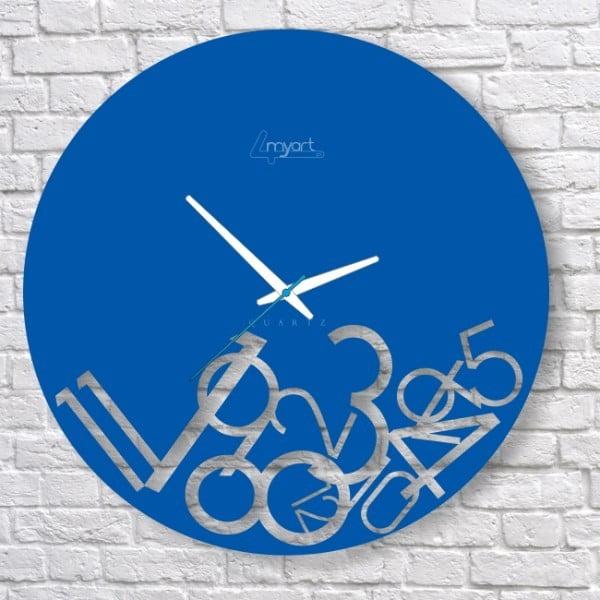 Nástěnné hodiny Blue Confusion