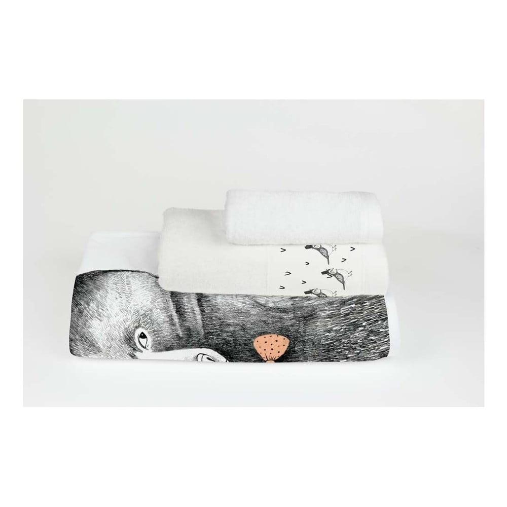set 3 prosoape little nice things bear bonami. Black Bedroom Furniture Sets. Home Design Ideas