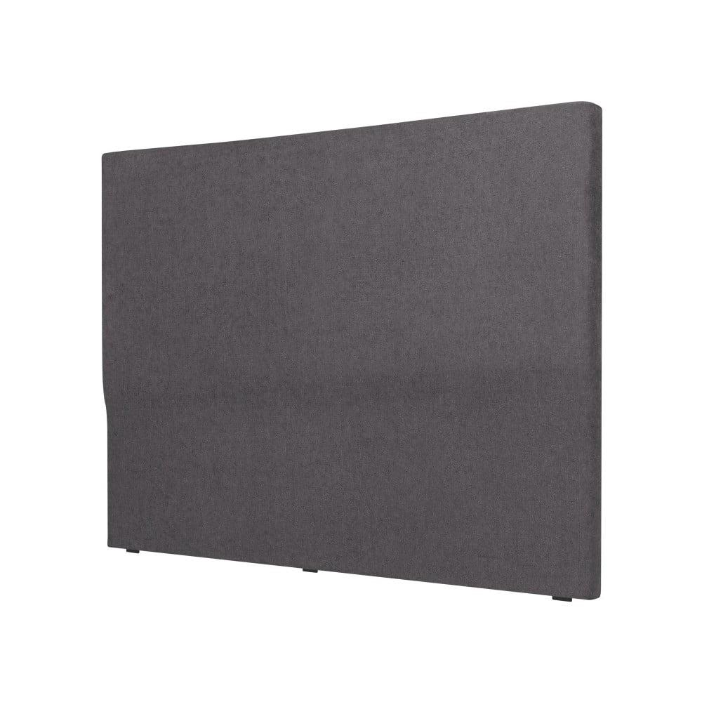 Tmavě šedé čelo postele Cosmopolitan design Naples, šířka 182 cm