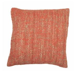 Oranžový polštář ZicZac Chambray, 45x45cm
