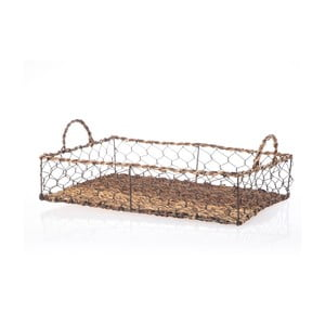Proutěný podnos Wicker Rectangle, 44 cm