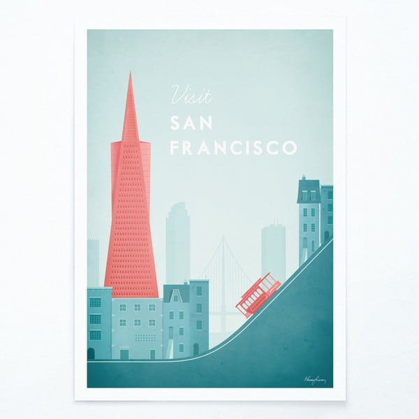 Plakat Travelposter San Francisco, A3