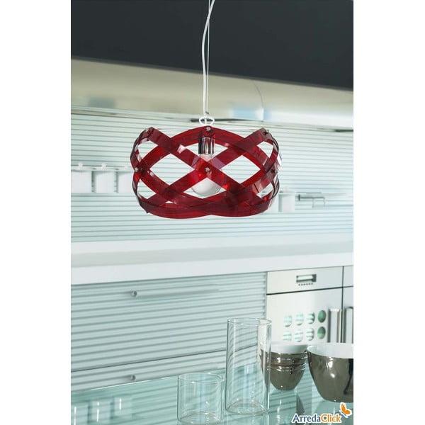 Závěsné svítidlo Nuclea Emporium 40 cm, červené