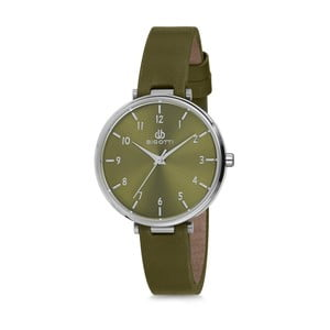 Zelené dámské hodinky s koženým řemínkem Bigotti Milano Anette