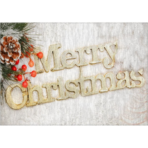 Covor Vitaus Christmas Period Golden Sign, 50 x 80 cm