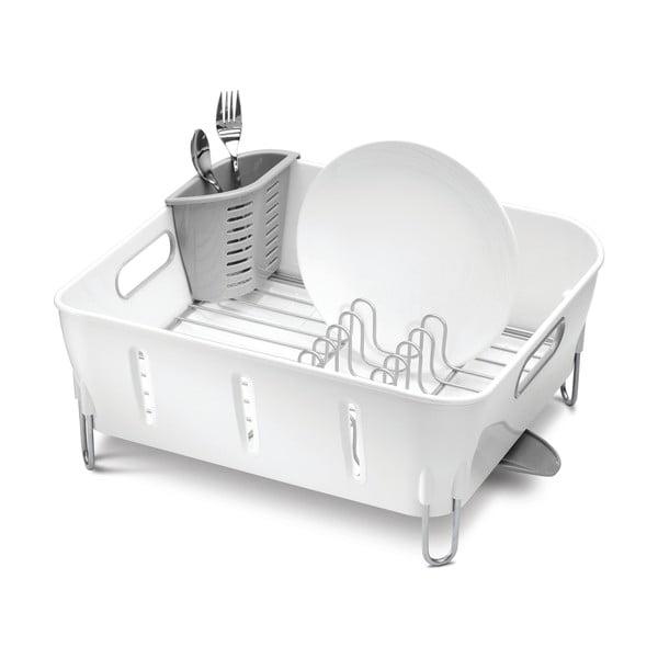 Bílý odkapávač na nádobí simplehuman Siro