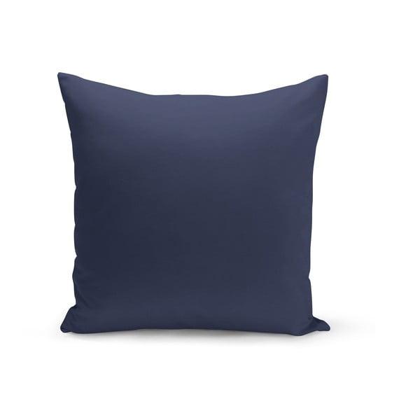 Tmavě modrý polštář s výplní Lisa, 43 x 43 cm