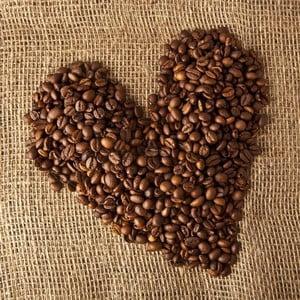 Obraz Kávové srdce, 28x28 cm