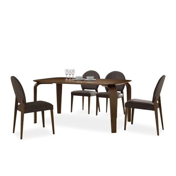 Jídelní stůl Mezzo, tmavý ořech