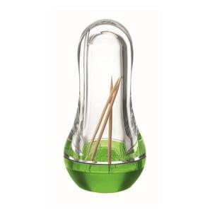 Zelený zásobník na párátka Fratelli Guzzini Feeling