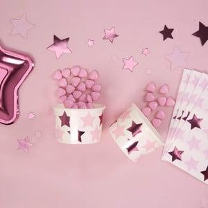 Sada 8 papírových nízkých kelímků Neviti Little Star Pink