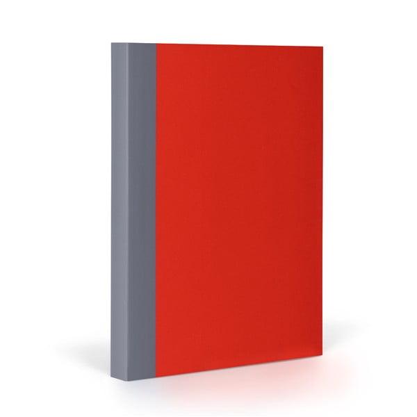 Zápisník FANTASTICPAPER A5 Cherry/Grey, řádkovaný