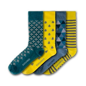 Sada 4 ponožek Black&Parker London Tresco Abbey, velikost 37 – 43