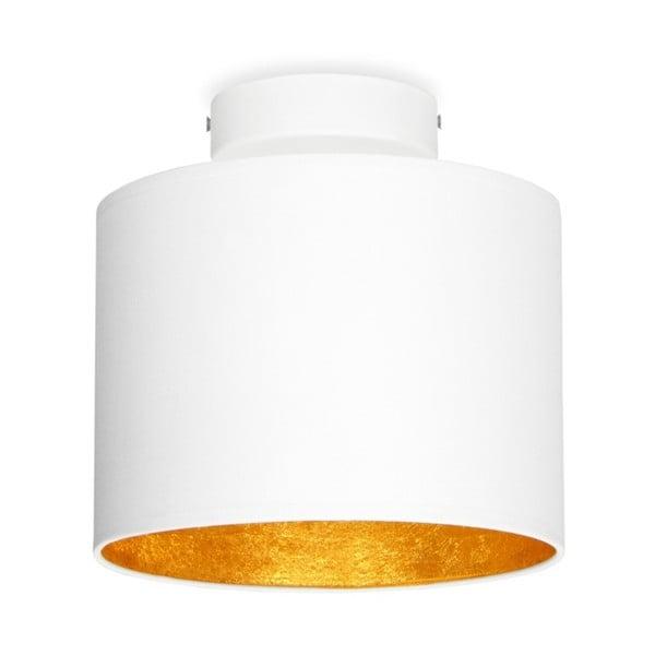 Biele stropné svietidlo s detailom v zlatej farbe Sotto Luce MIKA Elementary XS CP