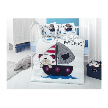 Lenjerie din bumbac ranforsat și cearceaf pentru pat de o persoană Ruhno Lento, 100 x 150 cm imagine