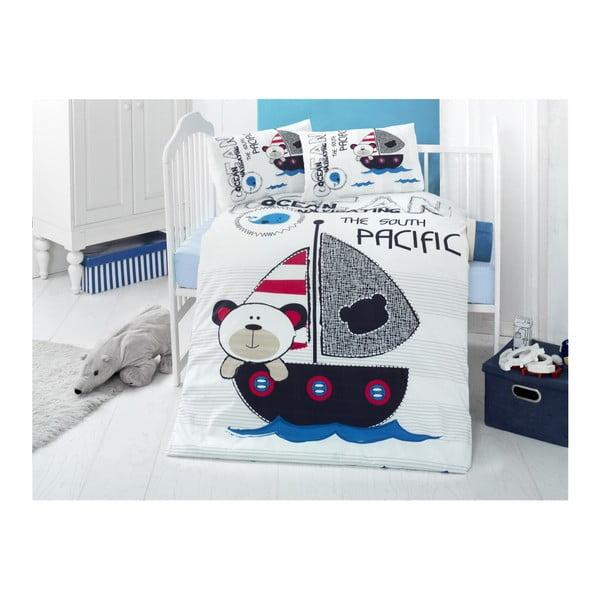 Lenjerie din bumbac ranforsat și cearceaf pentru pat de o persoană Ruhno Lento, 100 x 150 cm