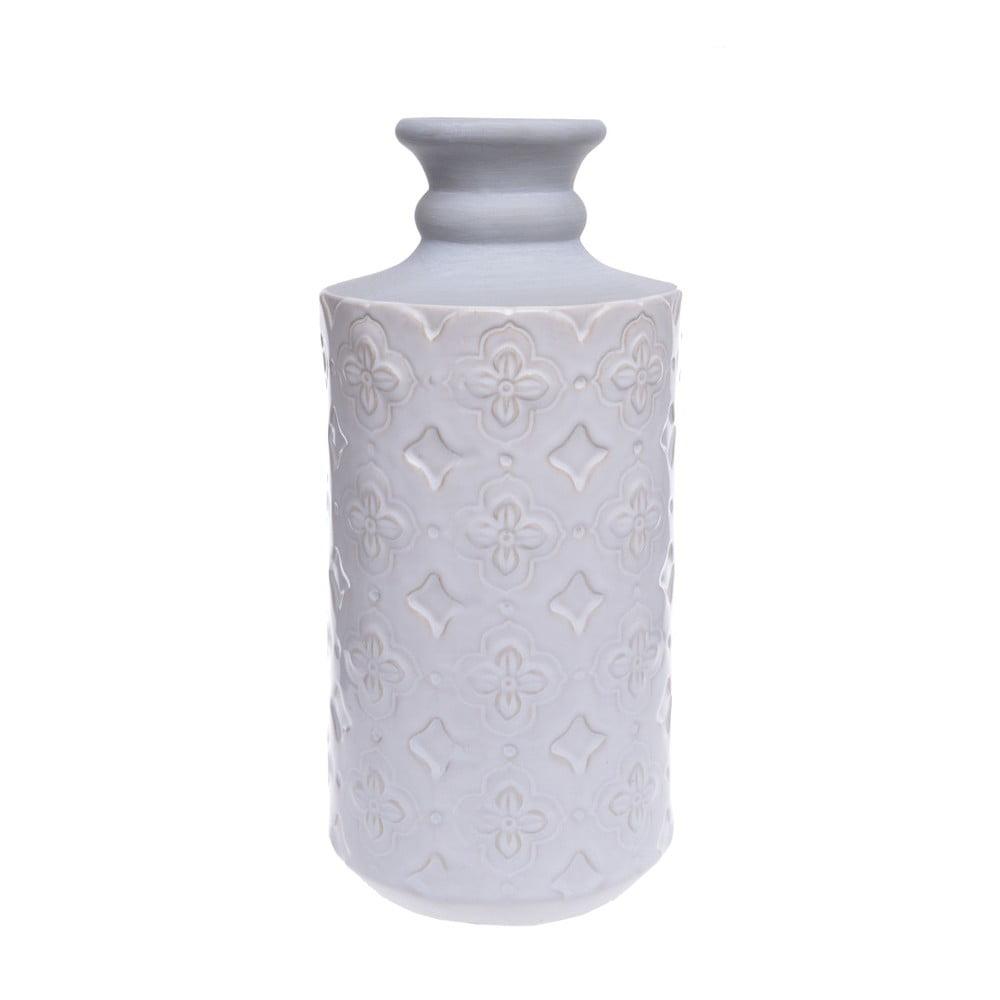 Bílá keramická váza Ewax Petals, výška30cm