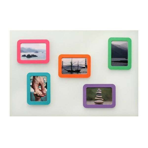 Set samodržících rámečků Blue Curacao, 10x15 cm, 3 ks