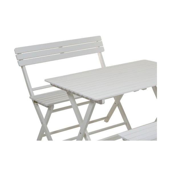 Set 2 scaune și masă din lemn de plop Santiago Pons, alb