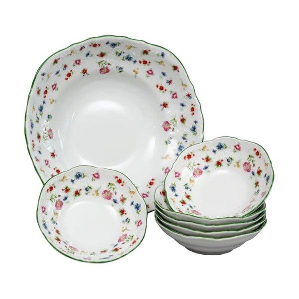 Zestaw porcelanowych misek z kwiatowym motywem Thun Bernadotte