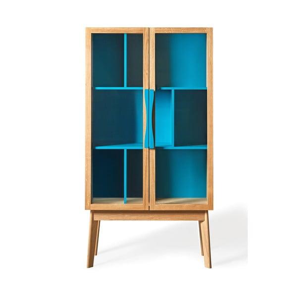 Modrá knižnica/vitrína Woodman Avon
