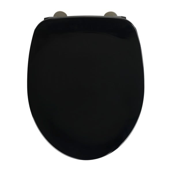 Armonia fekete WC-ülőke, 44,5 x 37 cm - Wenko