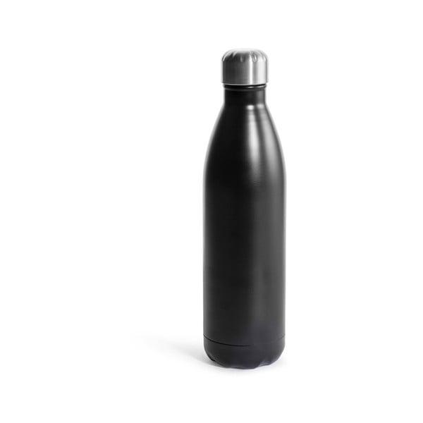 Czarna butelka termiczna ze stali nierdzewnej Sagaform Hot&Cold, 750 ml