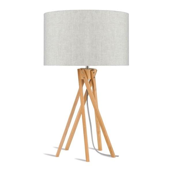Stolová lampa so svetlobéžovým tienidlom a konštrukciou z bambusu Good&Mojo Kilimanjaro