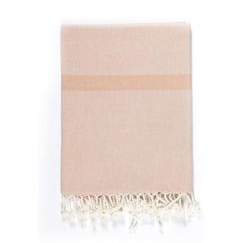 Prosop de plajă Kate Louise Cotton Collection Line, 100 x 180 cm, bej-roz-gri de la Kate Louise