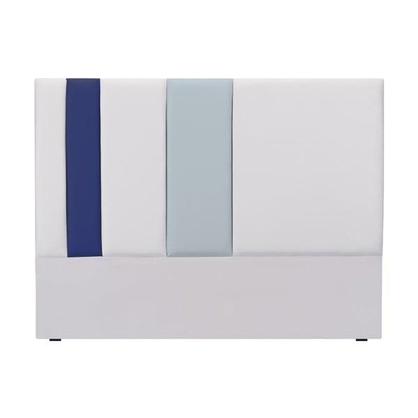 Tăblie pat Mazzini Sofas Dahlia, 120 x 160 cm, gri - albastru