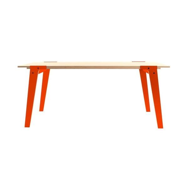 Oranžový jídelní/pracovní stůl rform Switch, deska 200x90 cm