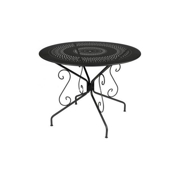 Černý kovový stůl Fermob Montmartre, Ø96cm