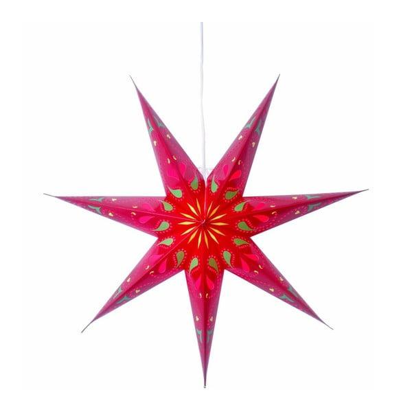 Závěsná svítící hvězda Siri Red, 70 cm