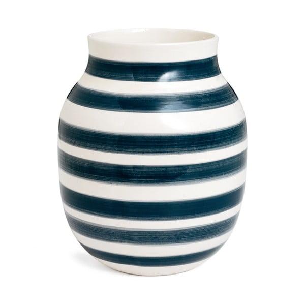 Omaggio szürke-fehér agyagkerámia váza, magasság 20 cm - Kähler Design