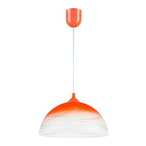 Oranžové závesné svietidlo Lamkur Waves
