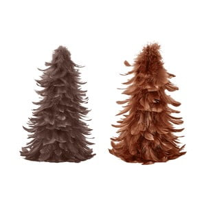 Set 2 decorațiuni din pene Villa Collection Feathers, 25 cm
