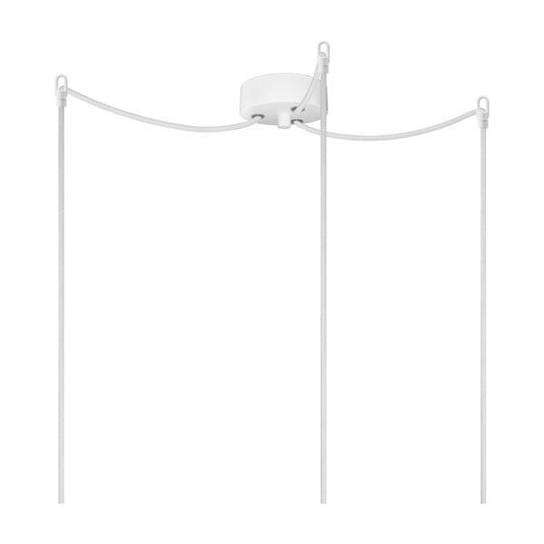 Trojice bílých závěsných kabelů s objímkami ve stříbrné barvě Bulb Attack Uno