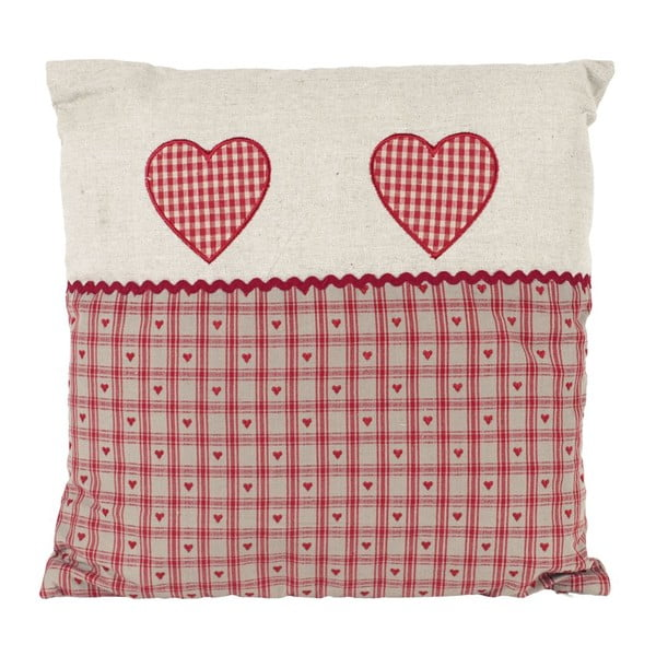Polštář Hearts Red, 40x40 cm