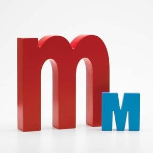 """Malé """"m"""" 13x13 cm, červená"""