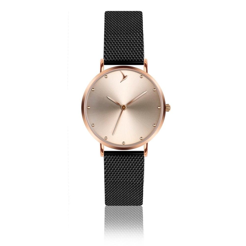 Dámské hodinky s páskem z nerezové oceli v černé barvě Emily Westwood Sinno