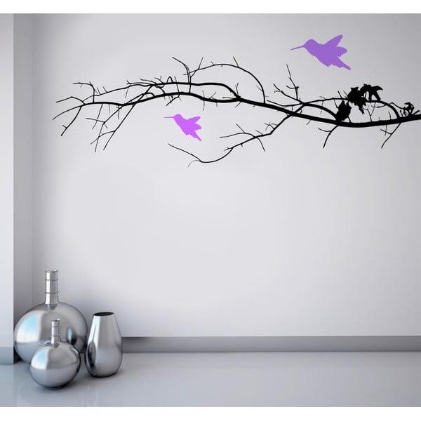 Samolepka na stěnu Ptáčci na větvi, 90x120 cm