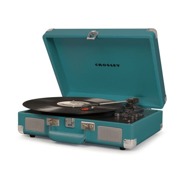 Ciemnoturkusowy gramofon Crosley Cruiser Deluxe