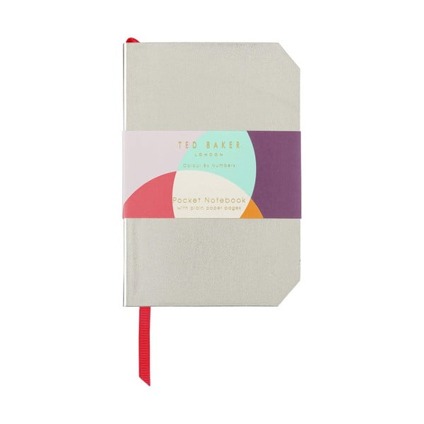 Agendă Ted Baker Colour By Numbers, auriu
