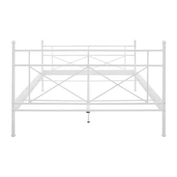Bílá kovová postel Støraa Tanja, 160x200cm
