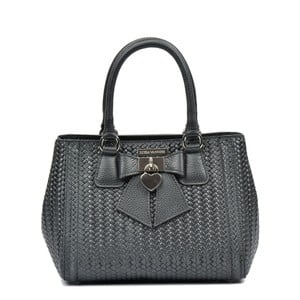 Černá kožená kabelka Luisa Vannini Dear