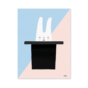 Poster Michelle Carlslund Bunny Hat Trick, 50 x 70 cm