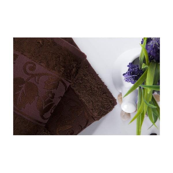 Set dvou ručníků Bamboo Brown, 50x90 cm