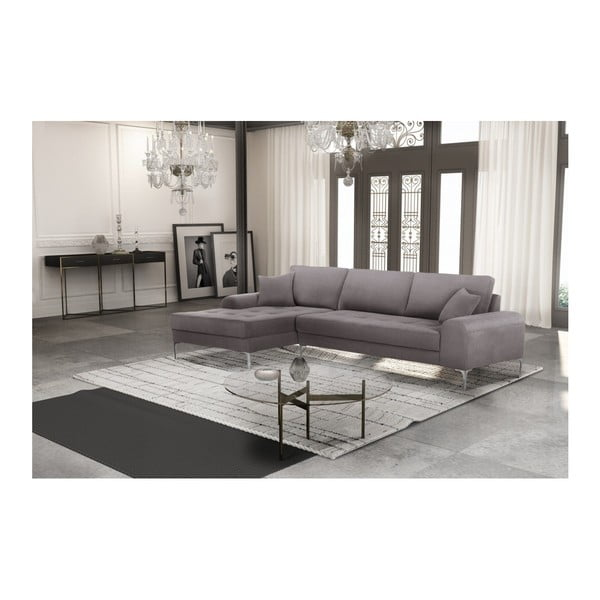 Set canapea maro cu șezut pe partea stângă, 4 scaune albastre, o saltea 160 x 200 cm Home Essentials