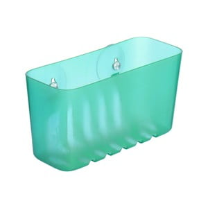 Tyrkysový nástěnný koupelnový košík bez nutnosti vrtání Ta-Tay Small Storage Basket Standart