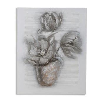 Tablou pictat manual Mauro Ferretti Dipinto Su Tela High Flower, 80 x 100 cm de la Mauro Ferretti